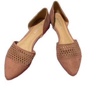 REPORT Point Toe Slip-on Flats Mauve Pink 10